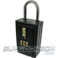 NuSet 3-Letter (A to Z) Combination Lock Box with Keyed Shackle