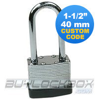 "NuSet 1-1/2"" Keyed Alike Padlock with Long Shackle"