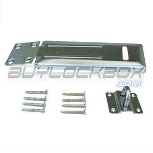 "4-1/2"" Zinc Safety Hasp with Rolled Edge"