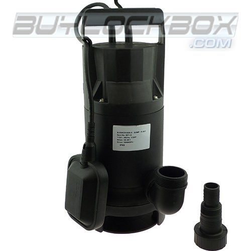 1/2 HP Thermoplastic Submersible Sump Pump with Tethered Float Switch