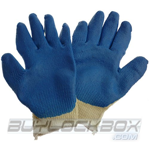 Blue Latex Coated Work Gloves