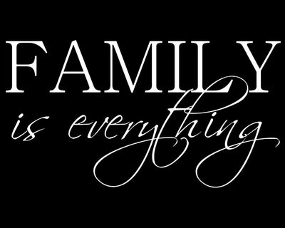 Family is everything - Farblix
