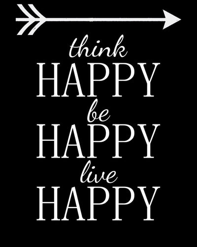 Think happy, be happy ... - Farblix