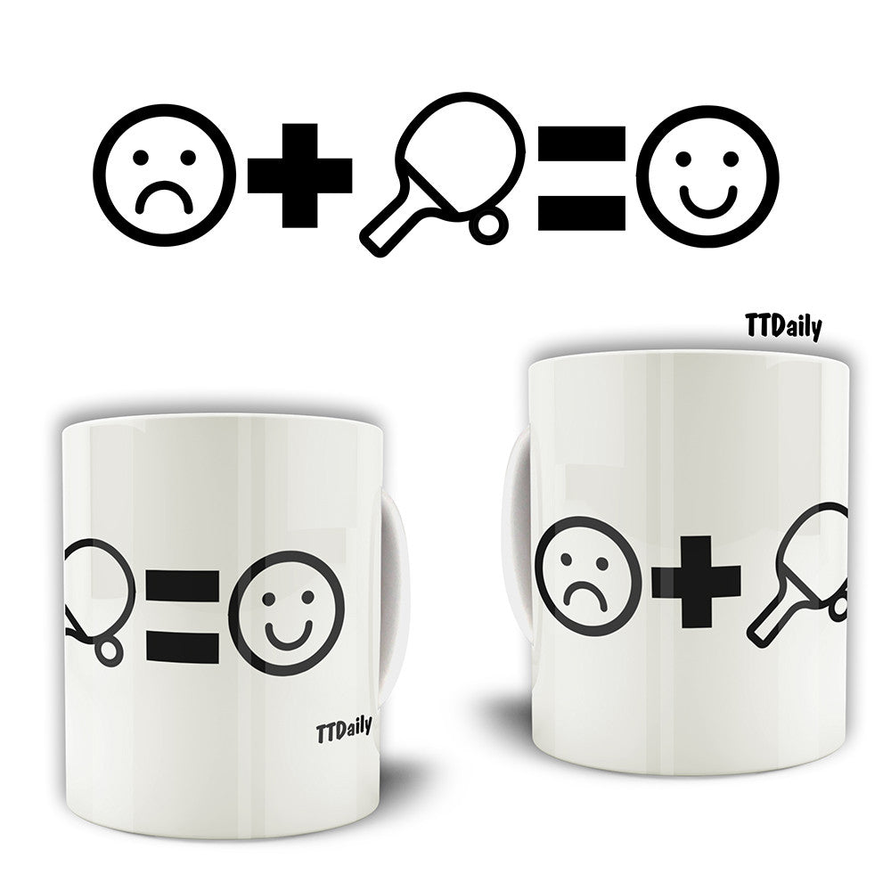 Sad+Table Tennis=Happy Mug