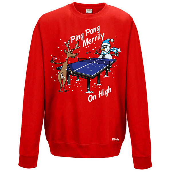 Ping Pong Merrily On High Christmas Jumper
