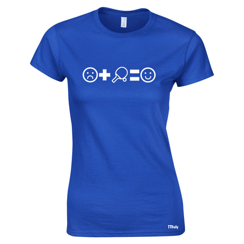 Sad+Table Tennis=Happy Womens T-Shirt