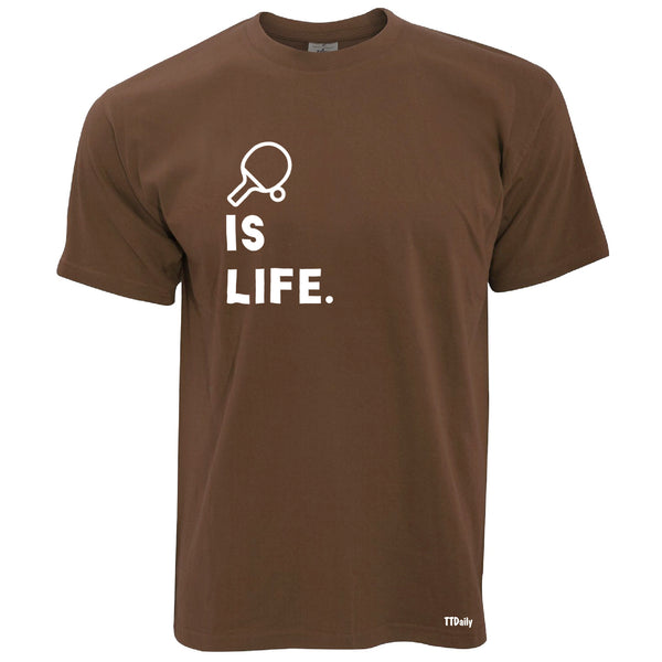 Table Tennis Is Life (With Bat) Mens T-Shirt