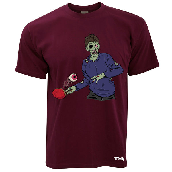 Table Tennis Zombie Mens T-Shirts