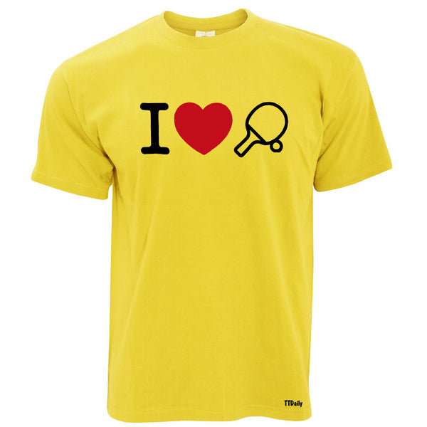 I Love Table Tennis Men's T Shirt