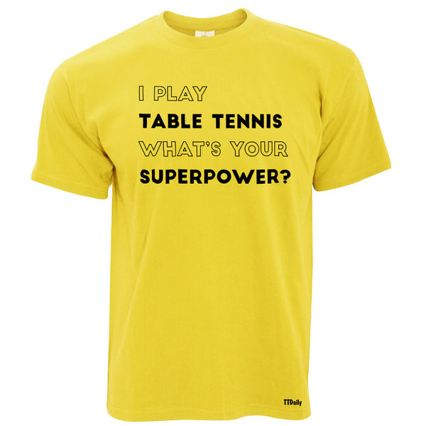 Superpower Table Tennis Mens T-Shirt
