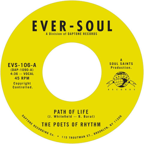 THE POETS OF RHYTHM - Path Of Life b/w Smilin' (While You're Crying)