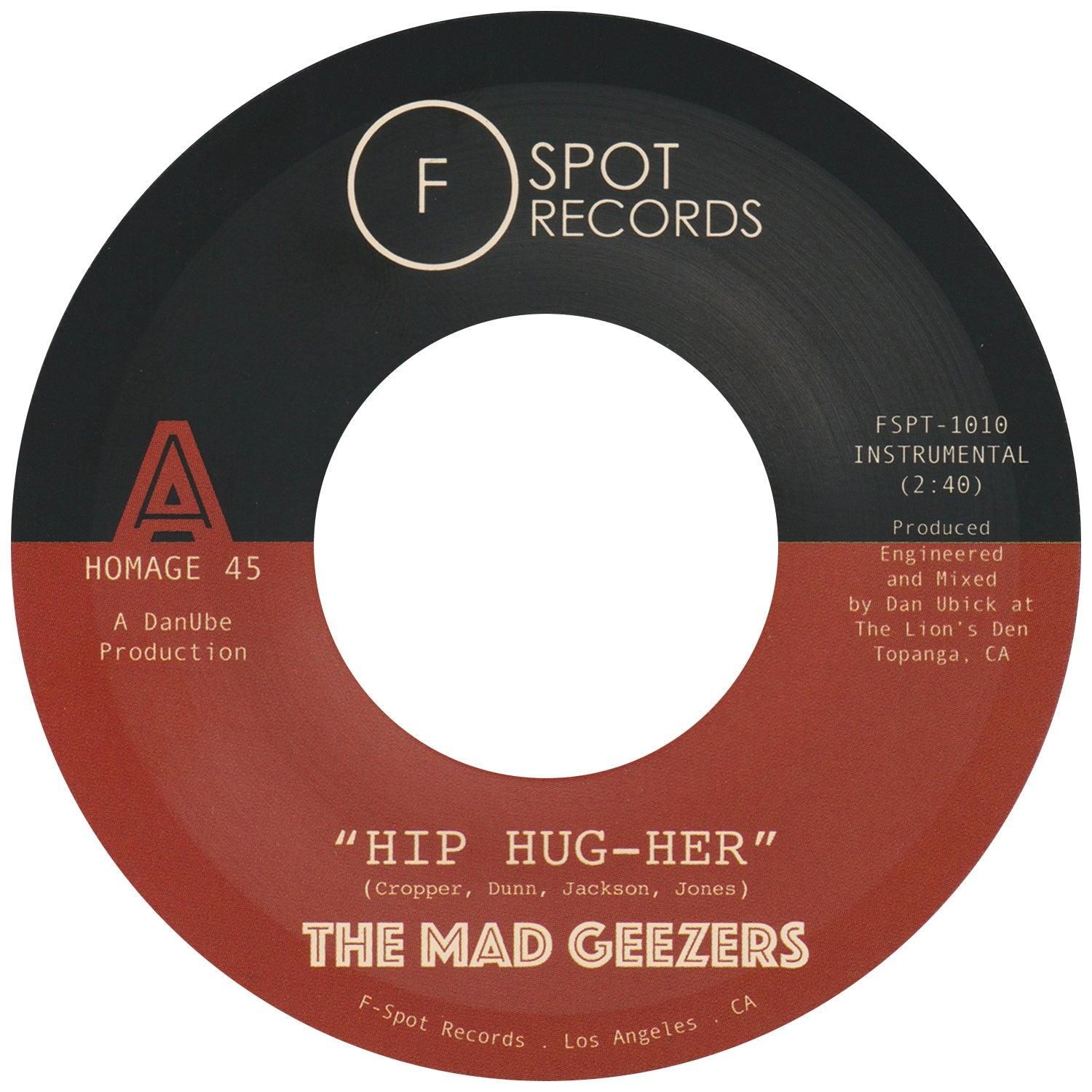 THE MAD GEEZERS - Hip Hug-Her b/w Girl of My Dreams