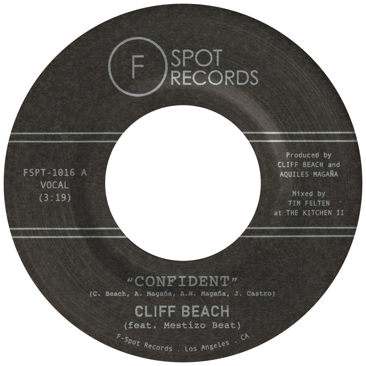 CLIFF BEACH (feat. Mestizo Beat) - Confident b/w Penny Candy