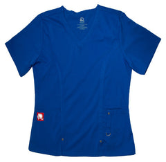 V-Neck Royal Blue Rhino Scrub Top