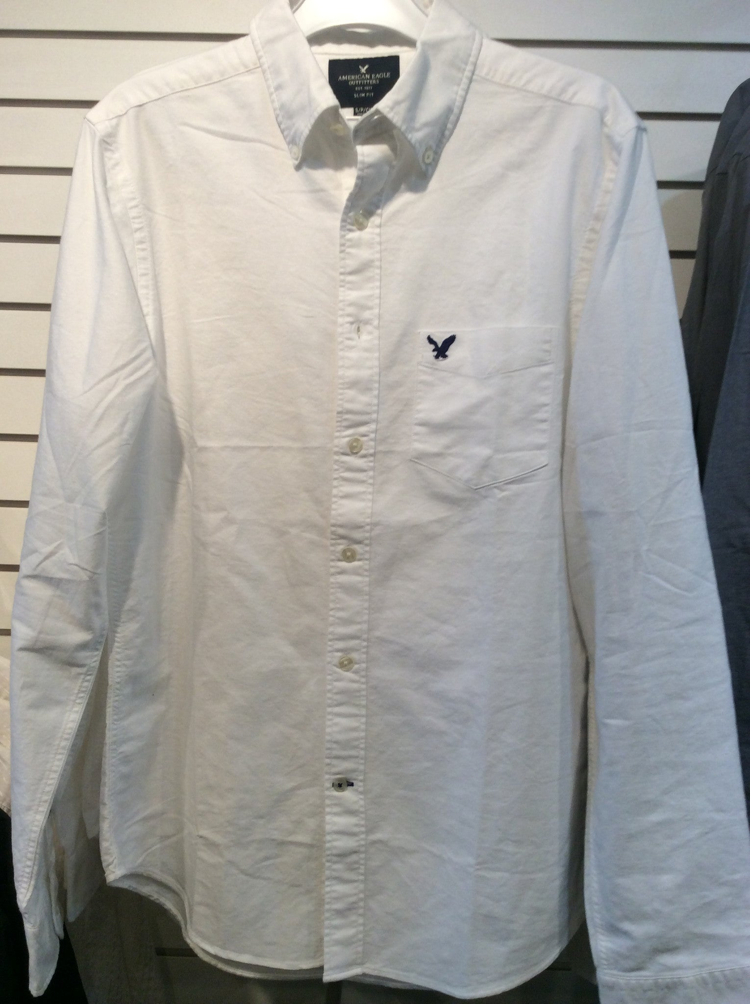 American Eagle White Men's Dress Shirt