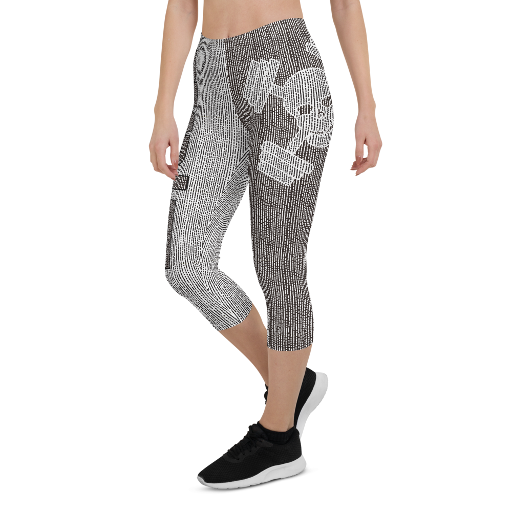 Sketcheroo Capri Leggings