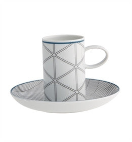 Orquestra Blue Coffee Cup & Saucer By Vista Alegre