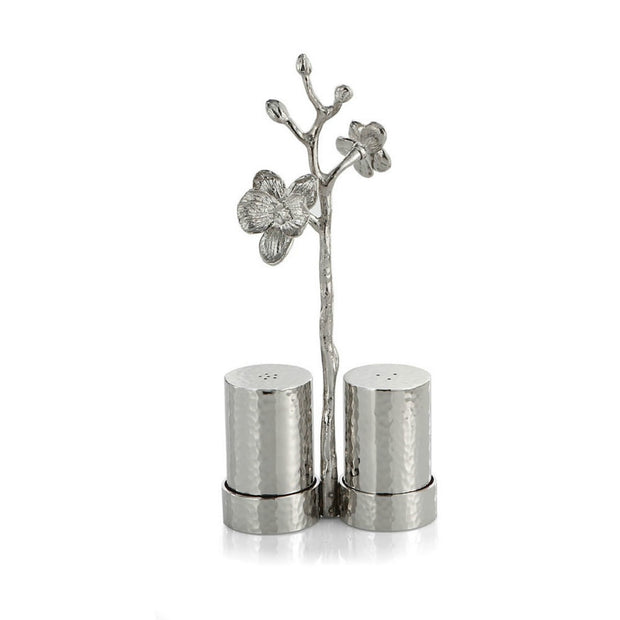 White Orchid Salt & Pepper Set By Michael Aram