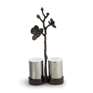 Black Orchid Salt And Pepper Shakers By Michael Aram