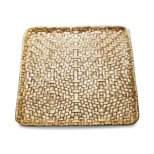 Palm Square Gold Plate By Michael Aram