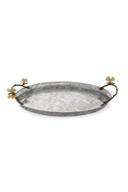 Butterfly Gingko Oval Tray By Michael Aram