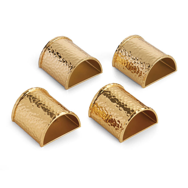 Hammertone Napkin Ring Set of 4 By Michael Aram