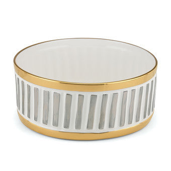 La Rochelle Medium Bowl By Michael Wainwright in Gold & Silver