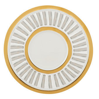 La Rochelle Coupe Accent Plate by Michael Wainwright in Gold & Silver