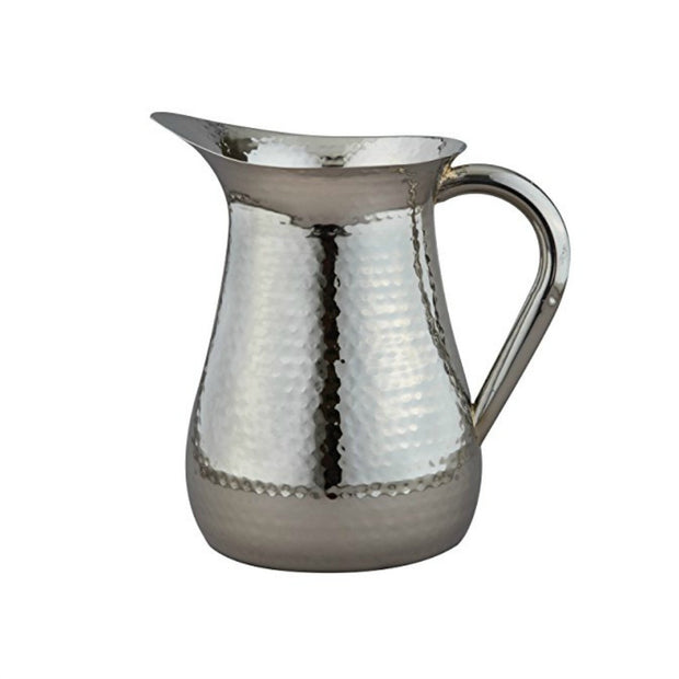 Hammered Stainless Steel Pitcher By Elegance