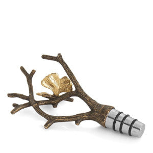 Butterfly Ginkgo Wine Stopper By Michael Aram