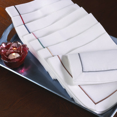 Line Design Napkin By Saro