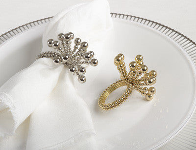 Fireworks Napkin Ring By Saro