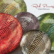 Snakeskin By Red Pomegranate Gilded Plates