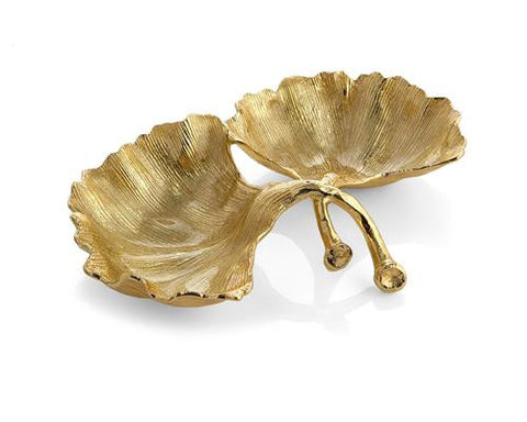 New Leaves By Michael Aram Ginkgo Double Compartment Dish