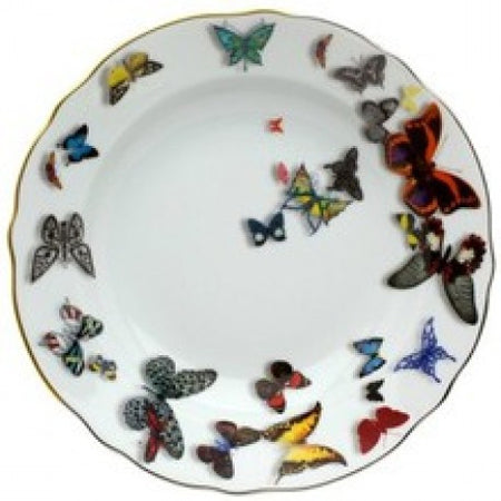 Butterfly Parade By Christian Lacroix for Vista Allegre Rim Soup Bowl