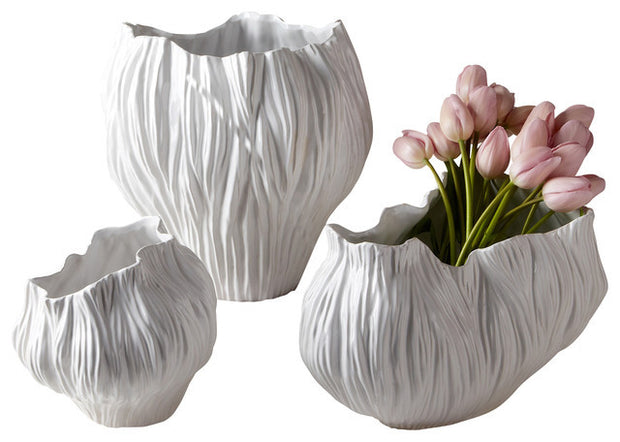 Set of 3 Piriform Vases by Two's Company