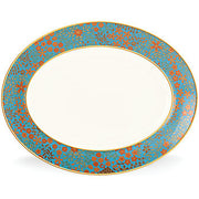 Gilded Tapestry Oval Platter for L by Lenox