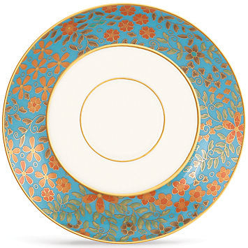 Gilded Tapestry Saucer for L by Lenox