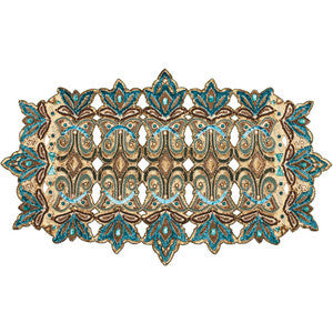 Royal Gate Runner in Teal By Kim Seybert
