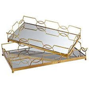 Hazeline Gold Tray with Mirror By Tozai