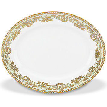 "Rococo Leaf 13"" Oval Platter By Marchesa for Lenox"