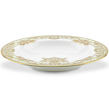 Rococo Leaf Rim Soup Bowl By Marchesa for Lenox