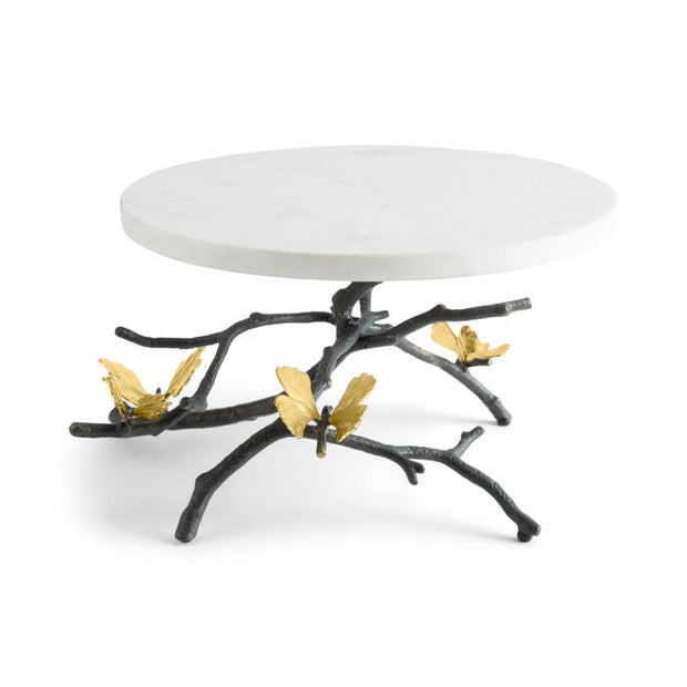 Butterfly Gingko Cake Stand with Spoon By Michael Aram