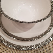 Round Hammered Dinnerware Set By Imperial China