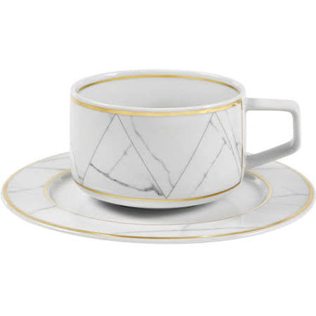Carrara Marble Teacup & Saucer By Vista Allegre