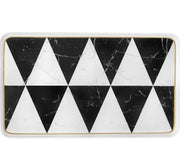 Carrara Marble / Chevron Medium Rectangle Platter