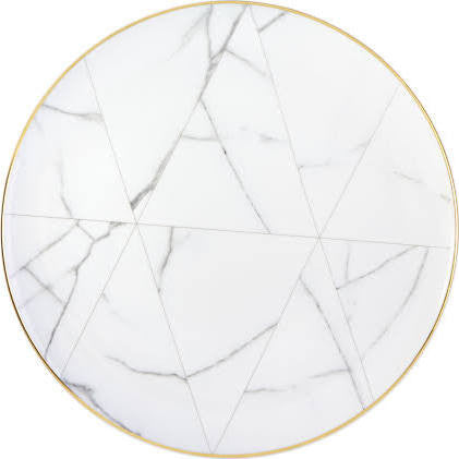 Carrara Marble Dinner Plate By Vista Alegre