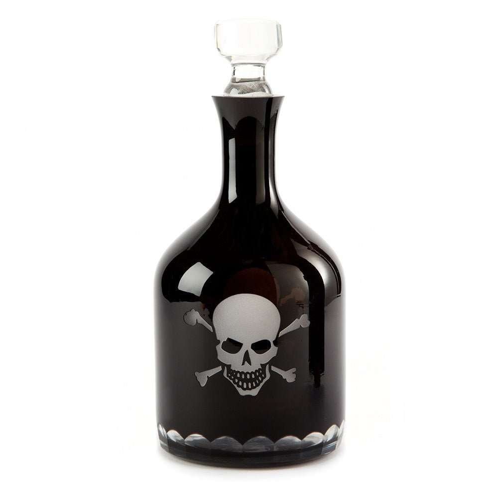 Two's Company Skellington Skull and Crossbones Decanter