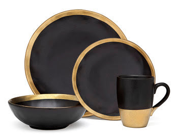 Golden Onyx By Godinger Dinnerware Set