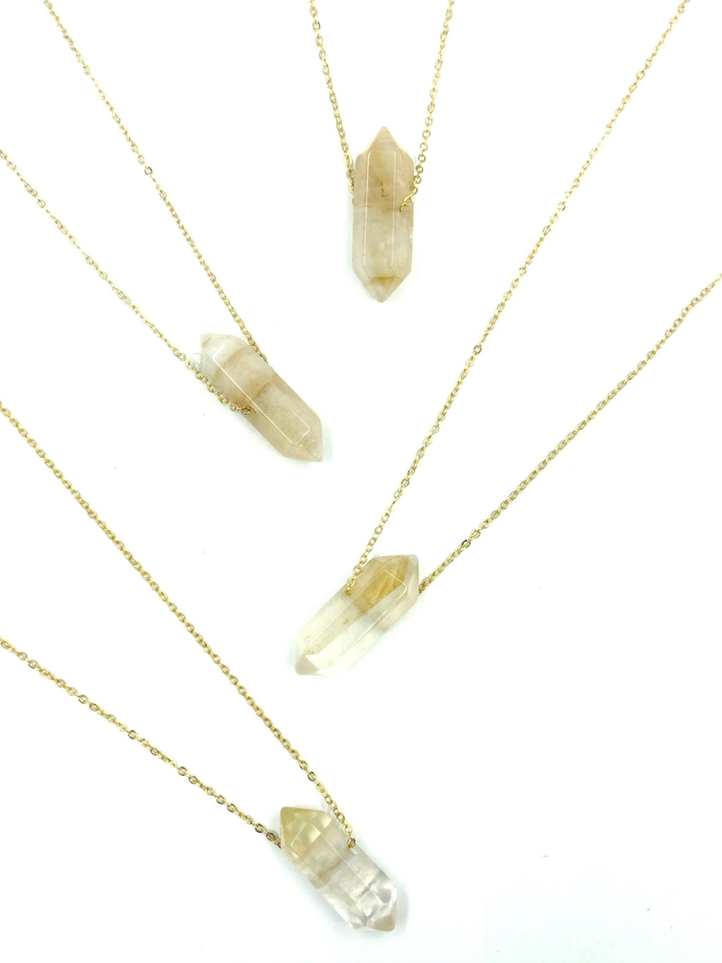 Citrine (Success) Double Point Wand Necklace